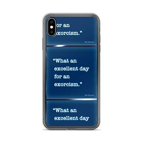 iPhone Xs Max Case Anti-Scratch Motion Picture Transparent Cases Cover The Exorcist Movies Video Film Crystal Clear ()