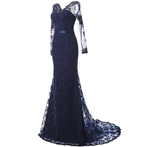 1b363518d59 new LovingDress Women s Prom Dresses Lace and Tulle V-Neck Mermaid Evening  Dress