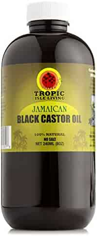 Tropic Isle Living- Jamaican Black Castor Oil-8oz Plastic PET Bottle