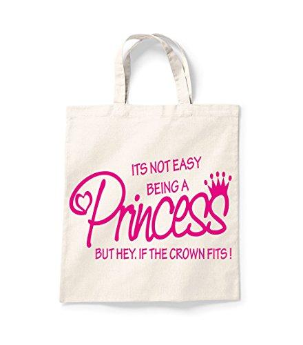 Seine nicht Easy Being A Princess Shopper Einkaufstasche Canvas Tote Bag Tasche für Life Baumwolle Bedruckt Shopper Bag Geschenk Secret Santa