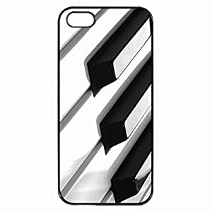 Piano keys Custom Image For HTC One M8 Phone Case Cover Diy pragmatic Hard For HTC One M8 Phone Case Cover High Quality Plastic Case By Argelis-sky, Black Case New