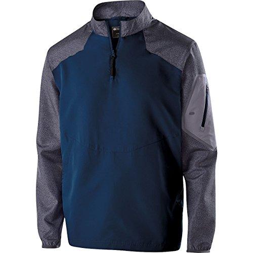 Holloway Sportswear Raider Pullover Windbreaker. 229155 Carbon Print / Navy 2XL - Pullover Windbreaker Navy