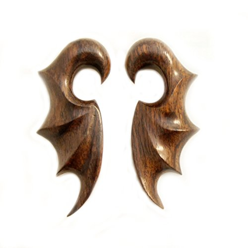 Sono Wood Organic Earrings (Bandaru Organics Sono Wood Bat Wing Earring)