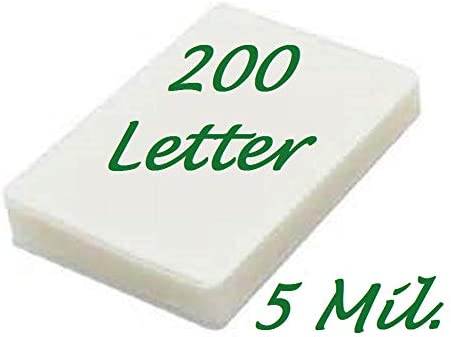 200 Letter Laminating Pouches Laminator Sheets 5 Mil 9 x 11-1//2 Quality