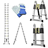Keraiz Latest 2019 Multi-Purpose Telescopic 5 Metre Ladder