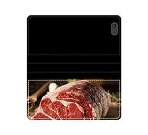 RAW porrosen Fed Prime Funda Flip Wallet cárnicas costilla con tarjeteros y compartimento para billetes iPhone 4 4S 5 5S 6 6S/Samsung S3 S4 S5