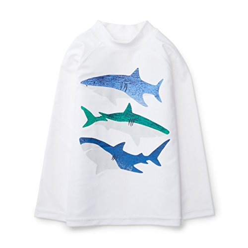 - Hope & Henry Boys Shark Long Sleeve Swim Rashguard Shirt