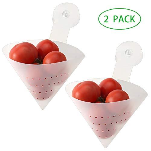 Kitchen Sink Strainers 2-Pack Folding Filter Bag Sponge Holder Garbage Stopper Waste Food Strainer (Strainer Waste Sink)