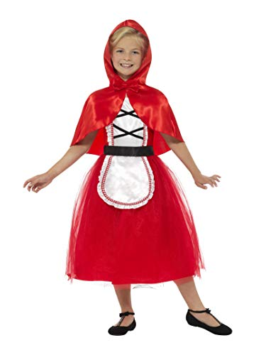 Red Riding Smiths Hood - Smiffys Deluxe Red Riding Hood Girls Fancy Dress Fairy Tale Book Day Childs