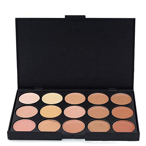 Vodisa 15 Color Ultra Contour Kit-Face Contouring and Highlighter Palette-Beauty Cosmetics Cream Makeup Blemish Concealer Palette