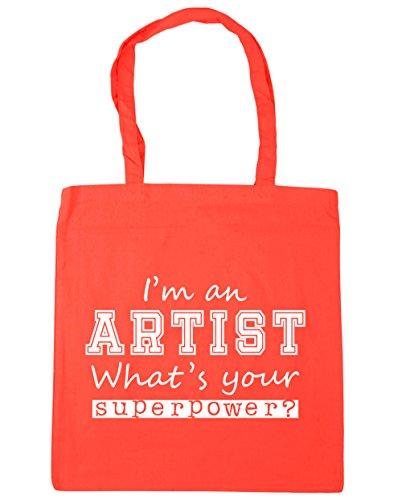 Gym HippoWarehouse Artist x38cm I'm Beach 42cm What's Tote 10 Bag Superpower Coral Your litres Shopping an 887rwn