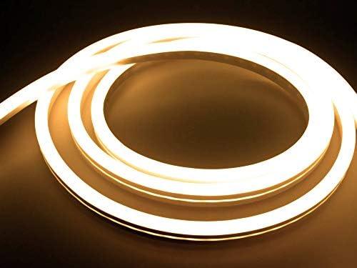 LED Universum 14 Meter Pro230 NeonFlex LED Streifen warmweiß mit Netzanschlusskabel, IP65, 230 V, 9 W/m, 280 lm/m, für Innen- und Außenbereich