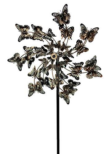 Garden Copper Ornaments (Upper Deck, LTD Aged Copper Finish Butterfly Garden Twirler Kinetic Wind Spinner Stake)