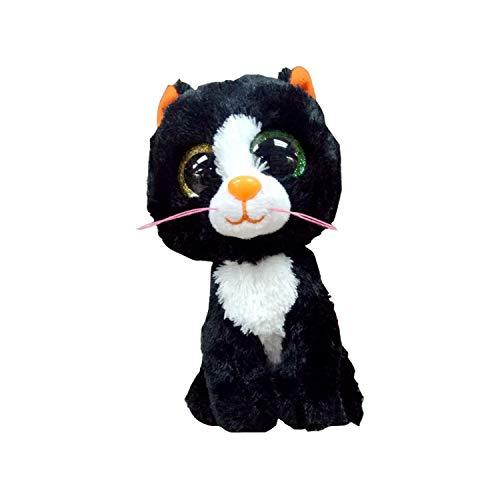 f745cfeee31 Amazon.com  JEWH Ty Beanie Boos Gray Dog - Plush Toy - Birthday Gift  Stuffed   Plush Animals - Cute Big Eyes Christmas Girlfriend (15cm) ( Black  Cat A)  ...