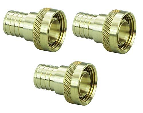Viega 46416 PureFlow Zero Lead Brass PEX Crimp Supply Adapter with 1-Inch by 1 Crimp x Manabloc Supply, ()