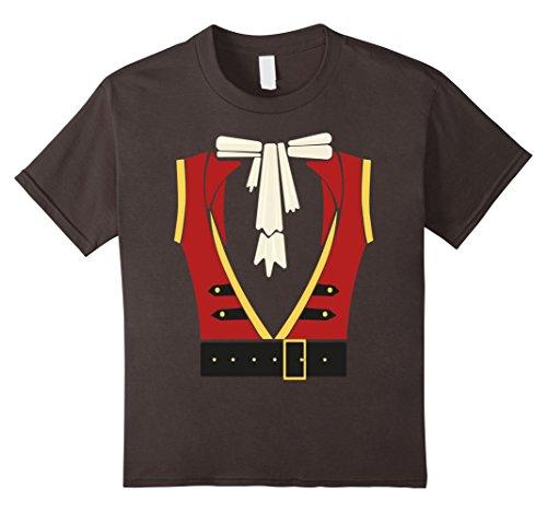 Kids Pirate Costume Shirt - Funny Sword Buccaneer Sailer Gift Tee 4 Asphalt