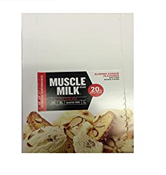 Muscle Milk Red , Almond Cookie Flavored ,2.18 oz , 12 pieces , Pack of 12