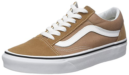 Vans Unisex Adults Old Skool Classic Suede/Canvas Sneakers, Brown (Tiger's Eye/True White), 12 UK (47 ()