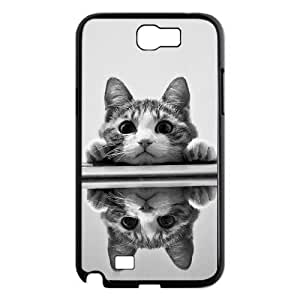 Cute Kitten Cat DIY Cover Case with Hard Shell Protection for Samsung Galaxy Note 2 N7100 Case lxa#439470