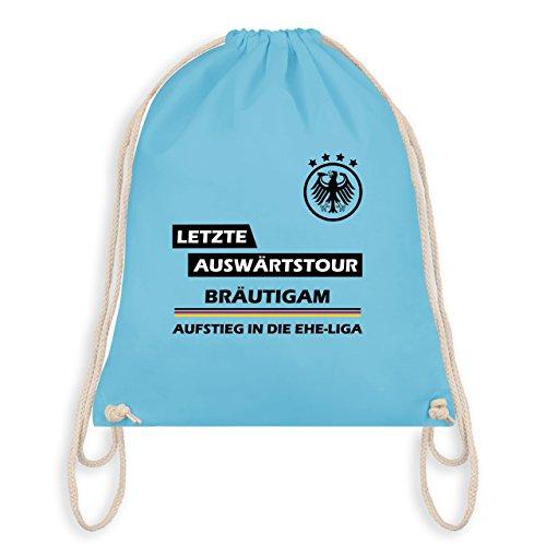 Shirtracer JGA Junggesellenabschied - Letzte Auswärtstour Bräutigam - Turnbeutel I Gym Bag Hellblau S7LkzmPwU