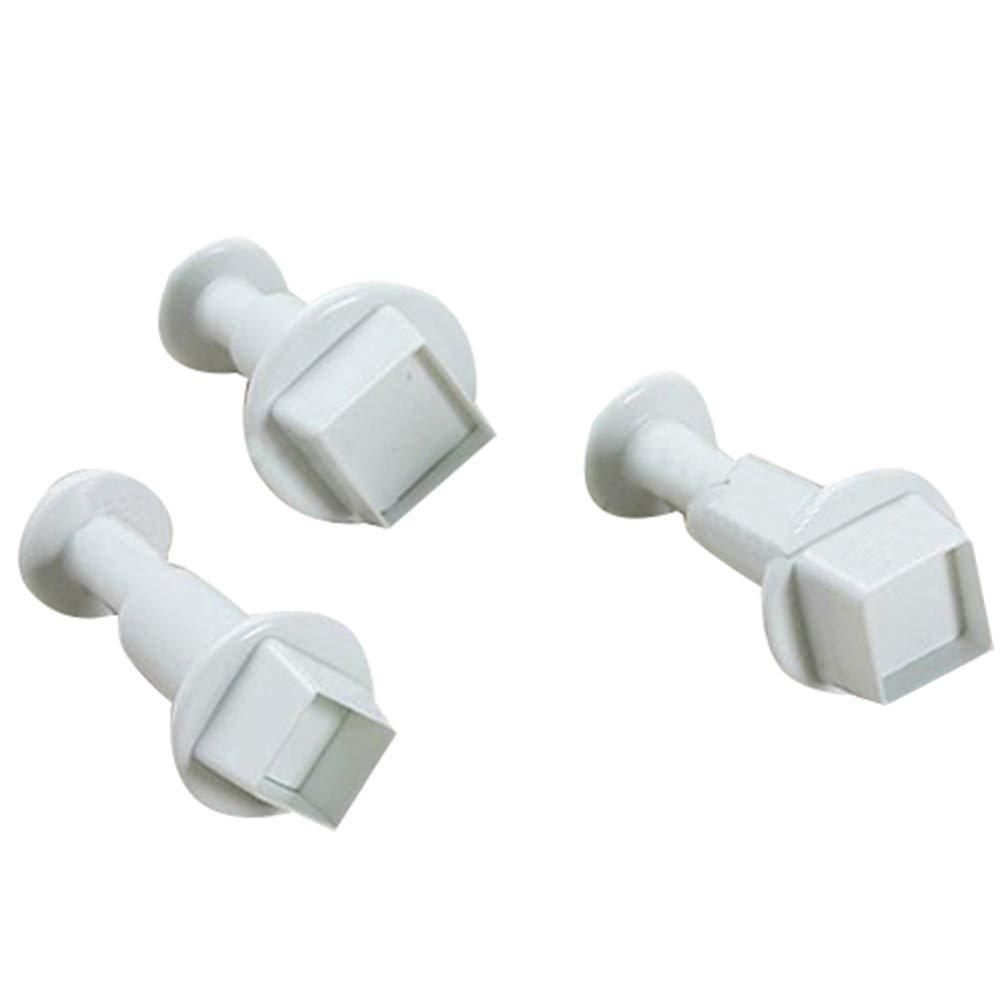 KaariFirefly Geometric Shape Fondant Plunger Cutters Sugarcraft Cake Decorating Mold Tool - Square