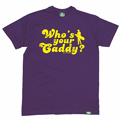 Golf Gift - Men's Who's Your Caddy (L - PURPLE) T-SHIRT