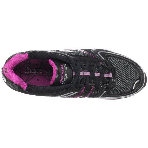 Skechers Femmes Shape Up S2 Lite Lace-up Mode Sneaker Noir Chaud Oink