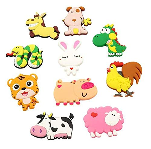 VLOOK Refrigerator Magnets Toddlers Farm Animal Fridge Magnets for Kid Girls Boys Whiteboard Educational Magnetic Toys for Preschool Learning