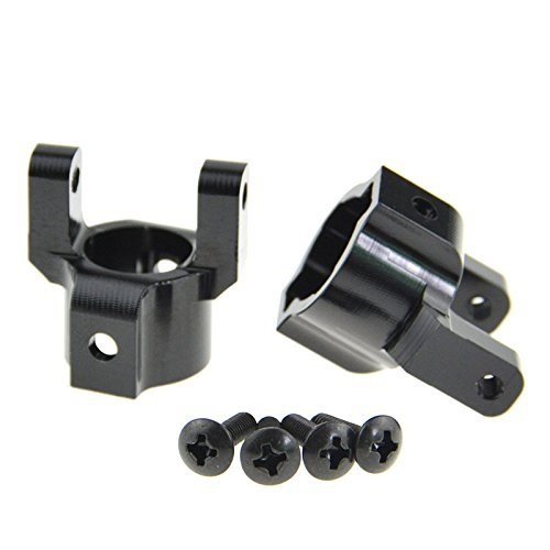 Rowiz 2PCS RC 1:10 Aluminum C Hub Carrier Upgrade Parts Black for Axial AX10 SCX10 Speedy Racing