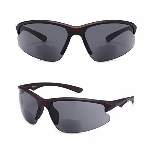Amazing Good Quality! Ultra-light Viscare Men Women Bifocal Sport Wrap Sunglasses with readers (+2.00, Black - Polarized Costco Sunglasses