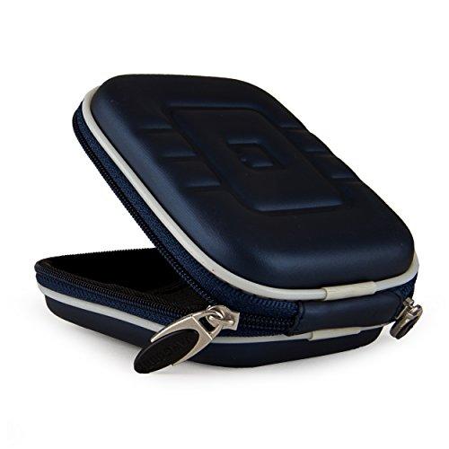 - VanGoddy Semi Hard EVA Carrying Case for Nikon COOLPIX S33 13.2MP Waterproof Digital Camera + Screen Protector (Navy Blue)