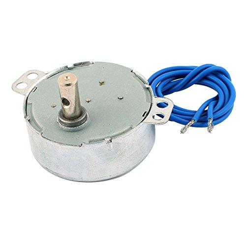 Uxcell a16051100ux0510 AC 100-127V 15-18R/Min - Eje redondo CCW/CW dirección, motor sincrónico de 4 W