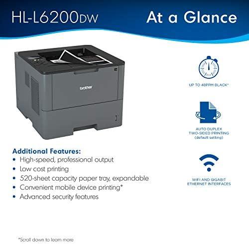 Brother HL-L6200DW Wireless Monochrome Laser Printer with Duplex Printing (Amazon Dash Replenishment Ready) 41Q3wQNHjOL