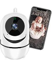Câmera de Segurança WiFi XFTOPSE Monitoramento 360º 1080P HD Camera IP Sem Fio com Áudio Bidirecional, Detecção de Movimento, IR Visão Noturna, Baba Eletronica para Bebê, Animal de Estimação, Idoso