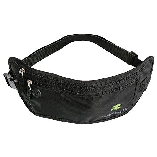 Running Belt, iHome&iLife RFID Safe Hidden Waist Pack Travel Money Belt, Comfortable, Durable and Lightweight Passport - Family Pack Ilife