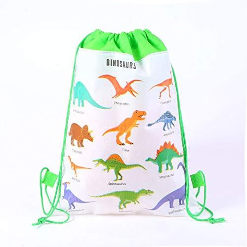 DPIST 12 Pack Dinosaur Drawstring Goody Gift Pouch Bags Kids Boys Girls Birthday,Dinosaur Party Supplies Favors