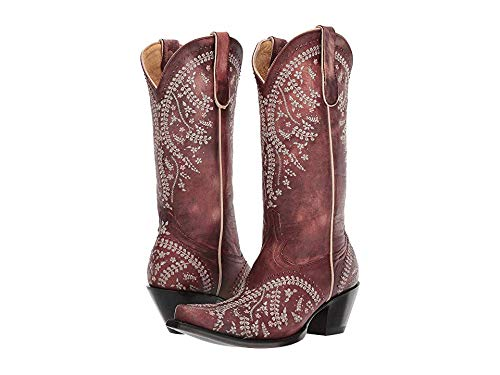 Old Gringo Women's Anya 13-Inch Shaft Floral Embroidered Cowboy Boots - Cognac (Old Gringo Women Boots)