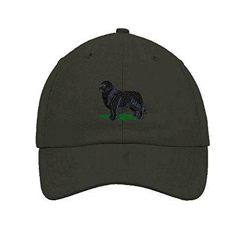 Newfoundland Dogs Pets Embroidery Twill Cotton 6 Panel Low Profile Hat Dark - Baseball Cap Newfoundland