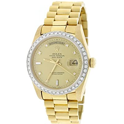 Rolex President Day-Date 18K Gold Original Diamond Dial & Bezel 36mm Watch 18048