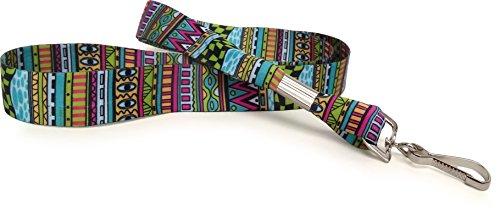 amazon com festival tribal stripe soft printed id neck lanyard