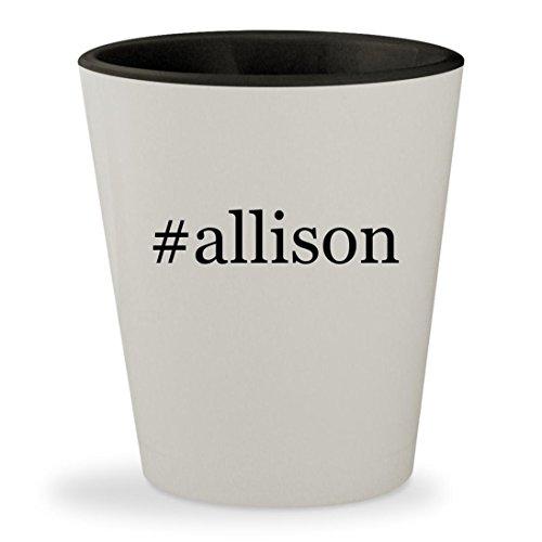 Allison   Hashtag White Outer   Black Inner Ceramic 1 5Oz Shot Glass