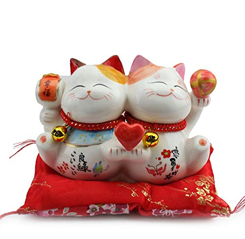 We pay your sales tax Feng Shui Ceramic Maneki Neko Lucky Cat Coin Bank for Wealth Home Decor Business Part Gift