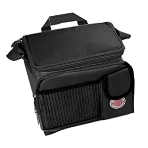 "Transworld Durable Deluxe Insulated Lunch Cooler Bag (Many Colors and Size Available) (12""x10""x8 1/2"", Black)"