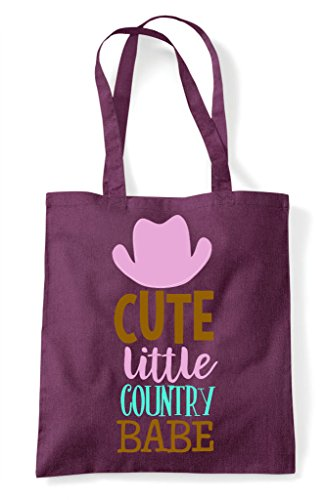 Shopper Bag Tote Babe Country Plum Cute Little 1OnTxawOX
