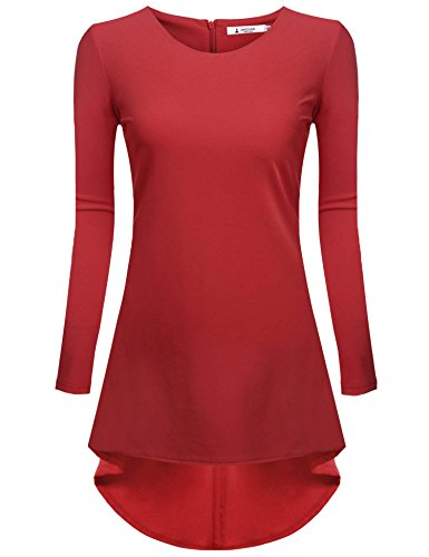 ANGVNS Womens Basic Sleeve Curved