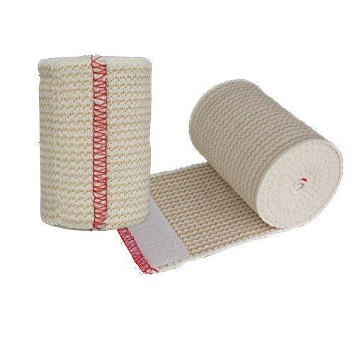 NexSkin - Vendas elásticas de algodón con Cierre de Gancho, 7,62 cm de Ancho, 1, 2, 3 Paquetes de 6, Paquete con 2, Paquete...