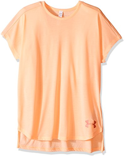 Under Armour Girls Under Armour Girls' Threadborne Play Up T-Shirt, Playful Peach /London Orange, Youth X-Large