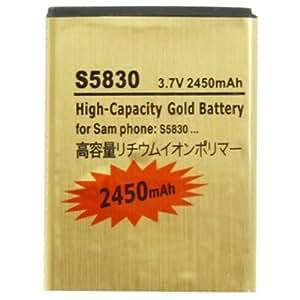 2450mAh High Capacity Gold Battery for Samsung Galaxy Ace S5660 / S5670 / S6500 / S7500 / I569 / I579 / S5838 / S5830
