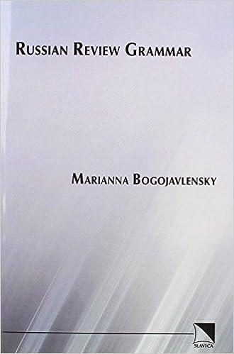 Russian Review Grammar by Marianna Bogojavlensky (1982-06-01)