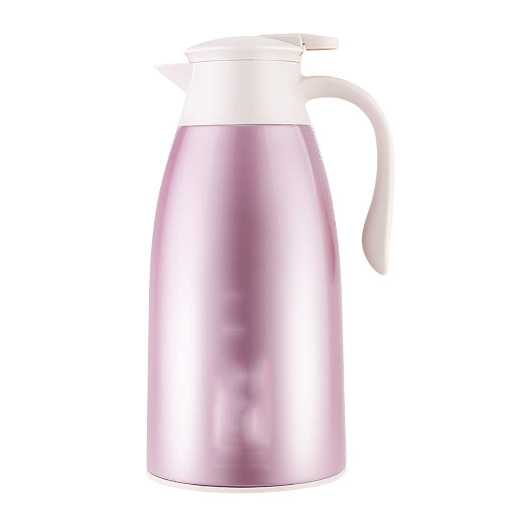 絶縁ケトル家庭用大容量1.9Lステンレス鋼湯たんぽ絶縁抗火傷防止電気ケトル(14X31cm) (色 : ピンク, サイズ さいず : 1.9L) B07QHGD818 ピンク 1.9L